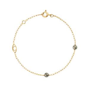 Bracelet Massilia Pyrite Or Jaune