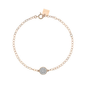 Bracelet Mini Ever Disc Or Rose Diamants