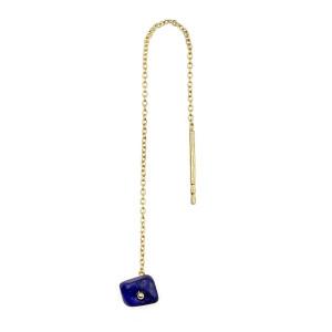 Boucle d'oreille Chaîne PM Lapis Lazuli (vendue à l'unité)