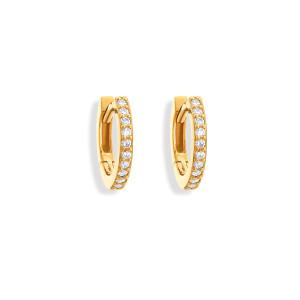 Mini Créoles Gaby Diamants Or Jaune