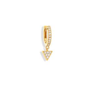 Mini Créole Alba Diamants Or Jaune (vendue à l'unité)