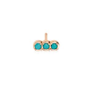 Boucle d'oreille Fallen Sky Or Rose Turquoise (vendue à l'unité)