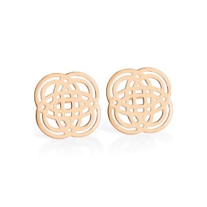 Boucles d'oreilles Purity Or Rose