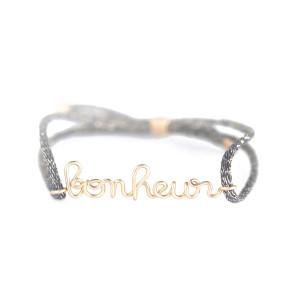 Bracelet Cordon Lurex Bonheur Gold Filled
