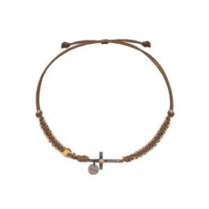 Bracelet Cordon Religion Makramé Croix
