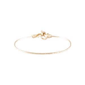 Bracelet Fil Nude Martelé Gold Filled Jaune 14K