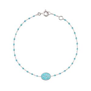 Bracelet Croix Mini Perles Résine Or