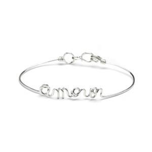 Bracelet Fil Amour Argentium