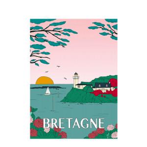Affiche Bretagne 30x40cm