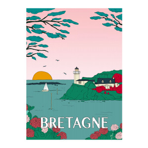 Affiche Bretagne 56x76cm