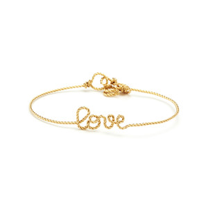 Bracelet Fils Torsadés Love Gold Filled 14K