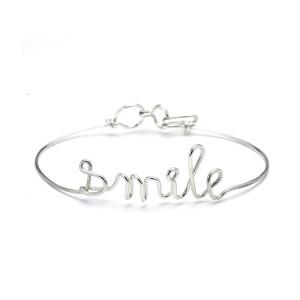 Bracelet Fil Smile Argent
