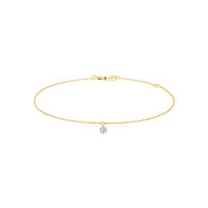 Bracelet 360° Diamant Brillant 0,10 Or Jaune