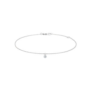 Bracelet 360° Diamant Brillant 0,07 Or Blanc