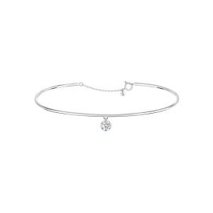 Jonc 360° Diamant Brillant 0,07 Or Blanc