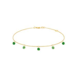 Bracelet Confetti 5 Tsavorites Vert Or Jaune