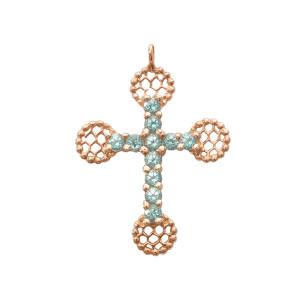 Pendentif Croix Romane Pierres