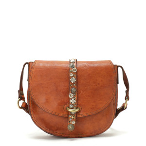 Sac Crossbody Medium Cow Studs Cognac