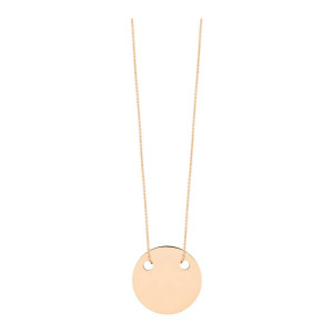 Collier Disc Or Rose Mini