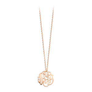 Collier Monogramme nGy Baby Or Rose