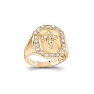 Chevalière Céleste Diamants Or Jaune