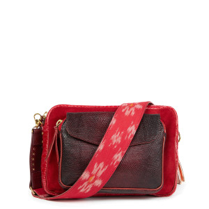 Sac Big Charly Python Bandoulière Rouge