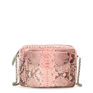 Sac Big Charly Python Rose Poudré