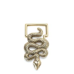 Boucle de Ceinture Serpent Doré