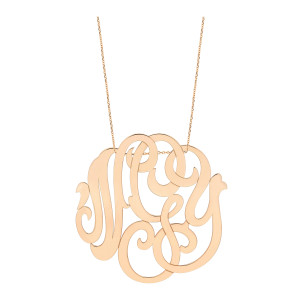 Collier Monogramme NGY Jumbo Or Rose
