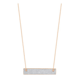 Collier Baguette Mini Or Rose Diamants