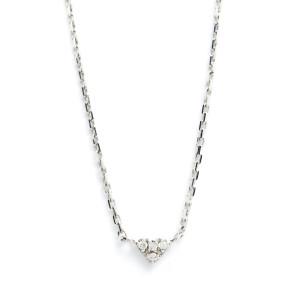Collier Cœur Diamants Or Blanc 18K