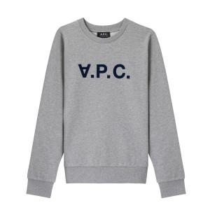 Sweatshirt Viva Coton Gris Chiné