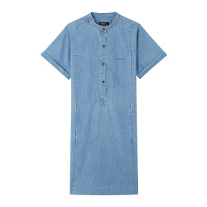Robe Temple Denim Bleu Clair