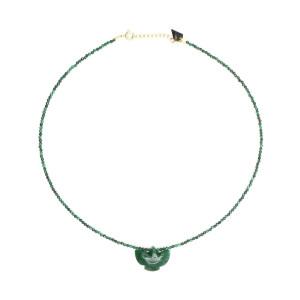 Collier Condor Perles Jade Malachite