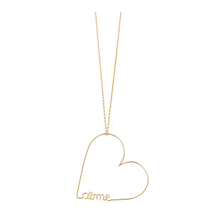Collier Mini Cœur Aime Gold Filled