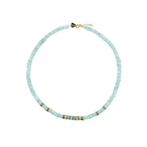 Collier Puka Amazonite