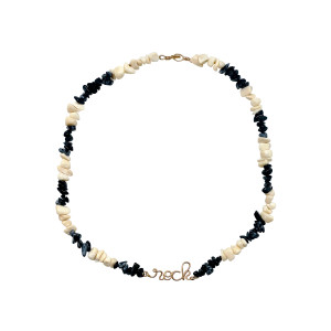 Collier Rock Gold Filled Onyx Nacre