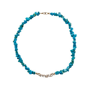 Collier Amour Gold Filled Turquoise