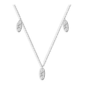 Collier Cheyenne Mini-Ovale Diamants Or Blanc