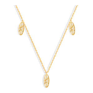Collier Cheyenne Mini-Ovale Diamants Or Jaune