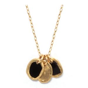 Collier Lumy XS 3 Médailles Noir