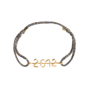 Bracelet Le Temps Personnalisable Cordon Lurex Gold Filled