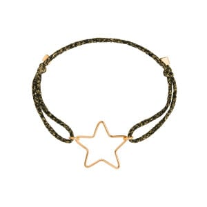 Bracelet Cordon Lurex Stardust Petit Star Gold Filled 14K