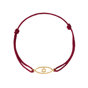 Bracelet Divine Iris GM Étoile de David Or Jaune