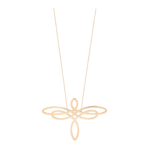 Collier Jumbo Dragonfly Or Rose