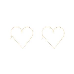 Créoles Mini Cœur Nude Gold Filled
