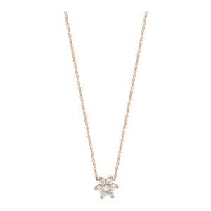 Collier Star Diamants Or Rose