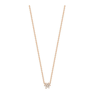 Collier Mini Star Diamants Or Rose
