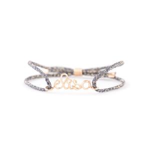 Bracelet Cordon Lurex Personnalisable Gold Filled Or Rose