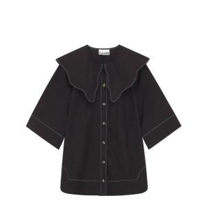 Top Coton Popeline Noir
